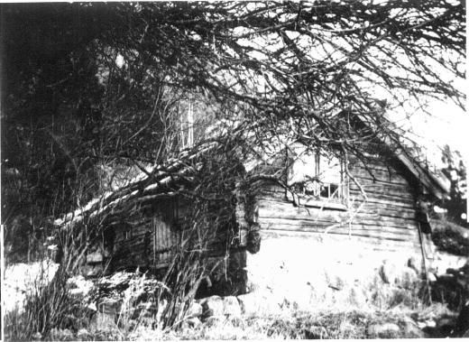 Bottnebergsliden, stugan finns nu på Gammelgården i Dingle.